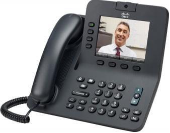 Cisco Systems CP-8945-K9 Cisco 8945 Kabelgebundenes Mobilteil 4Zeilen Schwarz IP-Telefon   CP-8945-K9