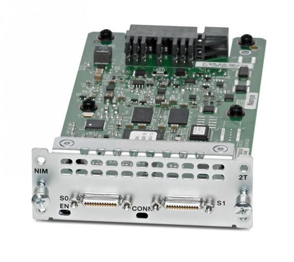 Cisco Systems NIM-2T Cisco WAN Network Interface Module - Serieller Adapter - RS-232/449/530/V.35/X.21 x 2 | NIM-2T